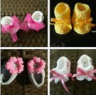 Baby Shoes Handmade Crochet Baby Girl Booties Mary Jane Shoes 0 3 Months Multi