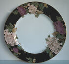 Fitz and Floyd Cloisonne Peony Black Dinner Plate