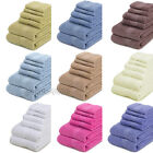 New 6 Piece Towel Set Soft 100% Pure Cotton Face Hand Bath Towels Wash Cloths
