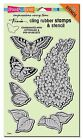 Stampendous CRS5093 Lilac with Template Cling Rubber Stamp Set