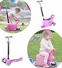Xtreme Free 3-in-1 Scooter with Light Up Wheels, Adjustable Handle, Knee Elbow