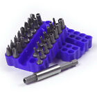 33Pcs Electric Screw Driver Drill Bits Set Power Tool Hex Flat Magnetic New