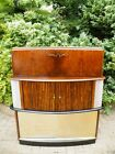 Amazing Art Deco Dazzling Walnut Light Up Cocktail Cabinet Liquor Bar 1920s