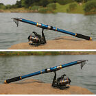 Professional Carbon Fiber Telescope Fishing Rod Travel Sea Spinning Pole 21m