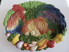 FITZ & FLOYD Classic Coq Du Village Oval Platter Rooster, Tray, Plate