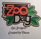 Zoo Day premade Scrapbook page Title