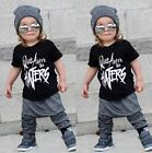 Fashion Toddler Kids Boy Short Sleeve Tops T shirt Pants Outfits Set Clothes