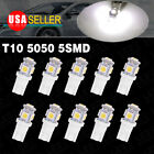 10 PCS LED Xenon White Wedge T10 5050 5 SMD Light bulbs 192 168 194 W5W 2825 158
