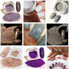 1box shine Holographic Laser Powder colorful Nail Glitter Chrome Pigments power