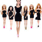 Hot Beautiful Handmades Black Clothes For Barbiee Doll christmas Gift Babys Toy