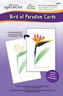 BIRD OF PARADISE CARDS Quill A Card Kit Quilling Quilled Paper Flower Craft 3D