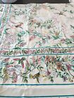 APRIL CORNELL HUMMINGBIRD GARDEN  FLORAL TABLECLOTH & 8 NAPKINS  60 X 84 in. NWT