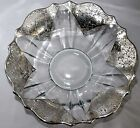 Antique Sterling Silver Glass Fruit Bowl 95 Wide