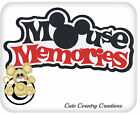 Mouse Memories Premade Paper Piecing Title Die Cut for Scrapbook Pages