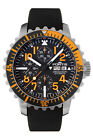 Fortis Men's 671.19.49 K Marinemaster Chronograph Automatic Black Rubber Watch