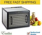 Excalibur D900CDSHD-9 Tray  Stainless Steel Clear Door Food Dehydrator w/ Timer