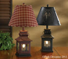 Country Lantern Lamp in Red or Black 20 Tall by Park Designs