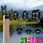 3in1 ZH12 Clip On Camera Lens 180Fisheye+Wide Angle+Macro For Cell Phone LG HTC