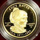 2011 FIRST SPOUSE GOLD PROOF LUCY HAYES + ALL ORIGINAL MINT PACKAGING