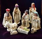 Christmas Nativity Set Scene Baby Jesus Figurine Paper Mache Composite Japan