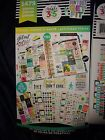 Happy Planner FITNESS STICKER BOOK 30pgs 1475pc Record keepInspirational Quotes