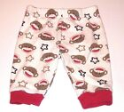 Baby Starters Pants 3 Months Unisex Baby Boy Girl Sock Monkey White Brown Red