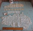 4 Lovely Old Antique French Heirloom Handmade Laces Most 19thC DollBridal
