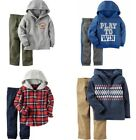 NWT Carters Baby Toddler Boys 2 Piece Long Sleeve Hoodie  Pants Sets Outfits