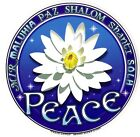 A396 Peace Lotus Art Decal Window Sticker