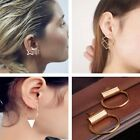 HOT Gold Silver Plated Copper Square Triangle Cubic Piercing Ear Stud Earrings