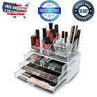 Acrylic Makeup Organizer Cosmetic Case Jewelry Holder Clear Drawers Box Storage