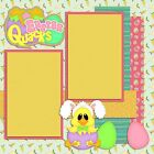 Premade Double Page Scrapbook Layouts Easter Quacks 997