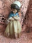 Lladro 2093  Girl w/ Crossed Arms Retired! Gres! Mint! Small Rough Patch! No Box