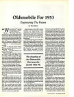 1953 OLDSMOBILE SUPER 88  GREAT 3 PAGE ARTICLE AD