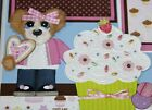 Tear Bear Paper Piecing SWEET Baking Girl 2 12x12 Premade Pages KERRIE