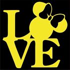 Minnie Mouse LOVE Vinyl Decal Sticker Choose Color  Size Disney Mickey