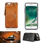 For iPhone 6/6s/7 Plus Genuine Leather Wallet Phone Case Cover Card Cash Pocket