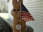 Old Glory Primitive Rabbit Handmade,Rusty bell, Pin.Tags. Stained, Scented