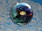COLORFUL ROBERT HELD PAPERWEIGHT, CANADIAN GLASS ARTIST, SIGNED