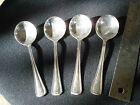 4 lovely ONEIDA Hotel silverplate consomme' spoons 5-1/2