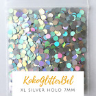 XL Holographic Silver Glitter Dots  Nail Art for Gel  Acrylic  Nail Design