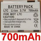 Battery 700mAh type BC60 SNN5781A For Motorola RAZR V3x Blue