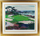 """""""CYPRESS POINT #15"""" by Mark KING. MAGNIFICENTLY FRAMED LE GOLF PIECE! PERFECT"""
