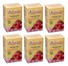 SIX boxes Pickwick Wild Raspberry Rose Herbal TEA total 120 teabags FRESH