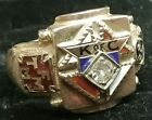 Vintage KNIGHTS OF COLUMBUS 10k Yellow GOLD Mens Ring Size 8 Fraternal K of C