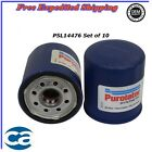 Oil Filter Synthetic Set of 10 For Chevrolet Daihatsu Toyota Pontiac 18L 22L