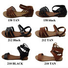 New Womens Summer Gladiator Strappy Flat Flip Flops Sandals Shoes size 5 10