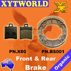 FRONT REAR Brake Pads Shoes BENELLI Pepe 100 LX 1999-01 2002 2003 2004 2005 2006