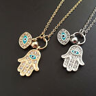 Fatima Palm Necklace Evil Eye Hamsa Hand Chain Pendant Jewelry For Women C7TX