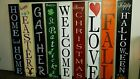 Large Rustic Wood Vertical Porch Sign Home Sweet Home 48 Primitive Distressed